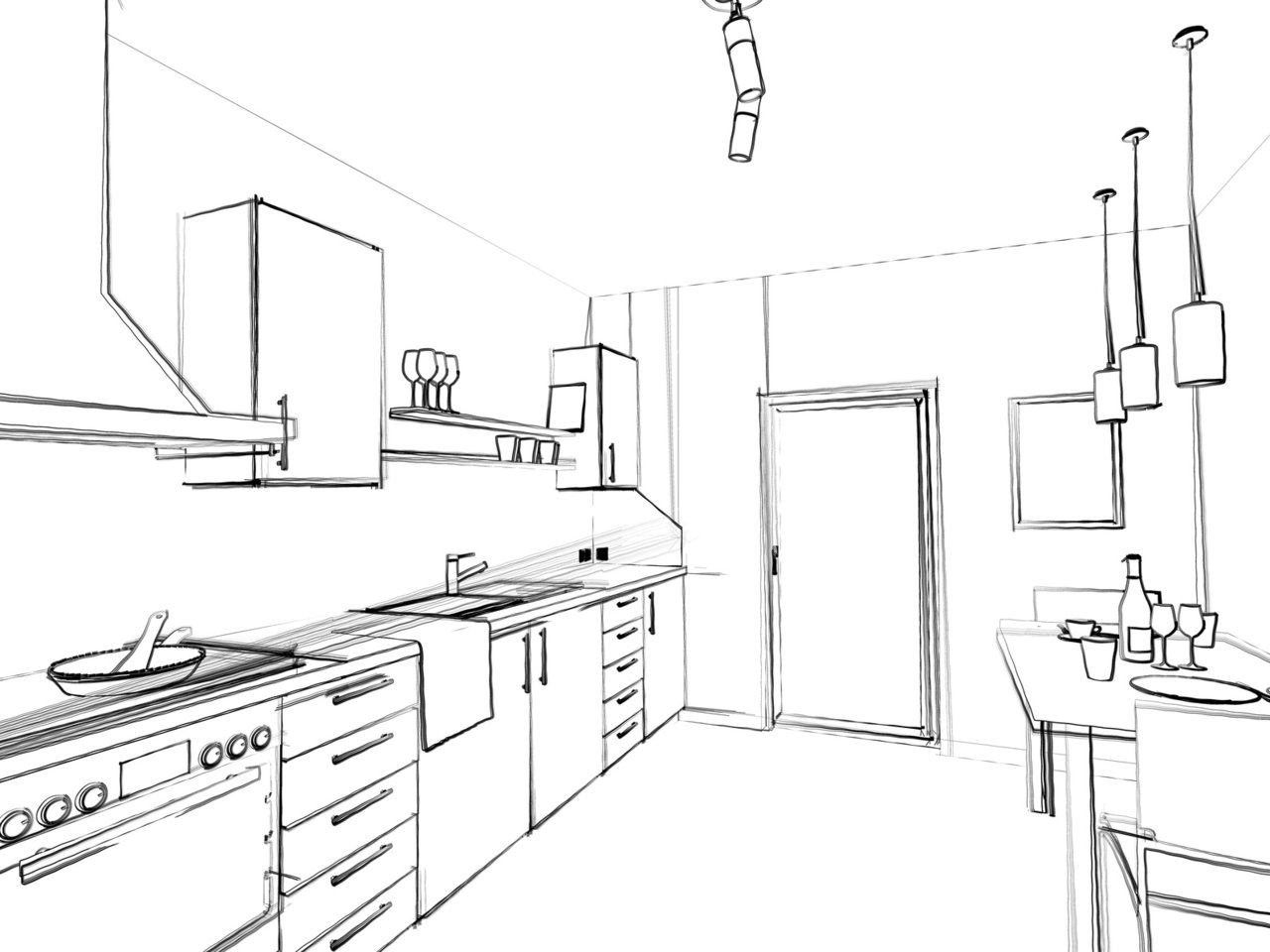 die schreinerk che individuell sch n und langlebig schreinerei ralf lenz. Black Bedroom Furniture Sets. Home Design Ideas